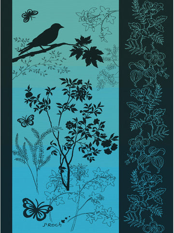 PRINTEMPS KITCHEN TOWEL, TURQUOISE