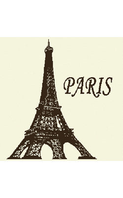 LOVE PARIS COTTON TERRY HAND TOWEL, GRIS