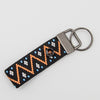 KeyChain - Orange ZigZag