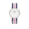 Cuff Watch - Blue, White & Pink