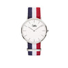 Cuff Watch - Blue, White & Red
