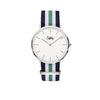 Cuff Watch - Blue, White & Green