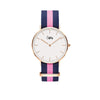 Cuff Watch - Blue & Pink