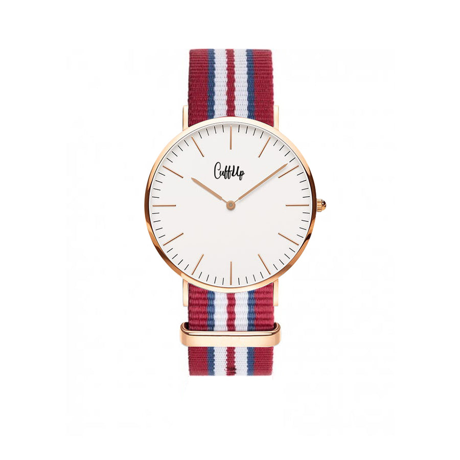 Cuff Watch - Red, Blue & White