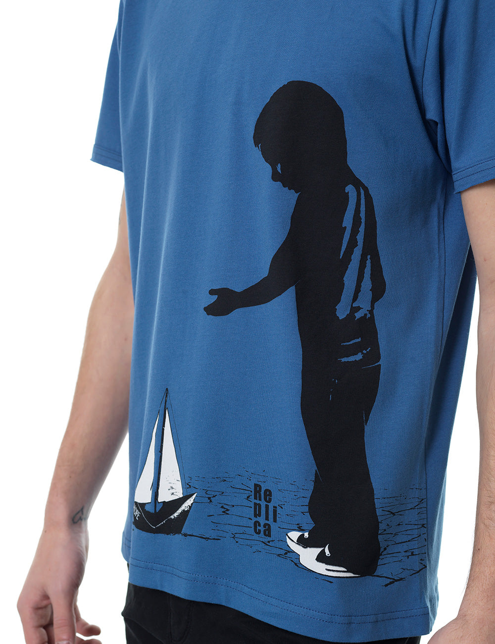 Boat Replica tshirt Greece blue