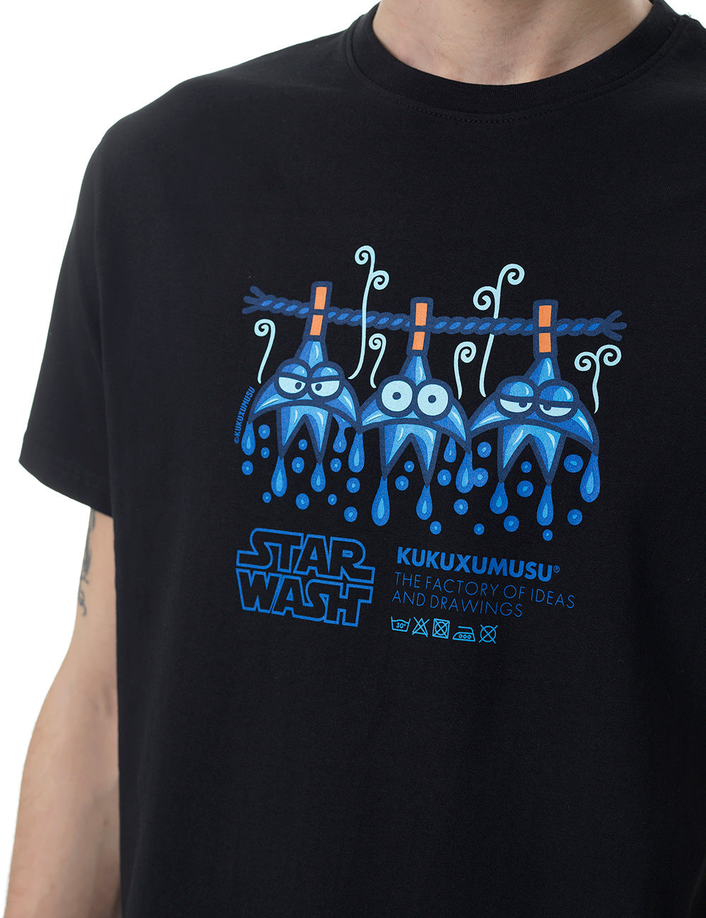 Star Wash kukuxukusu tshirt black