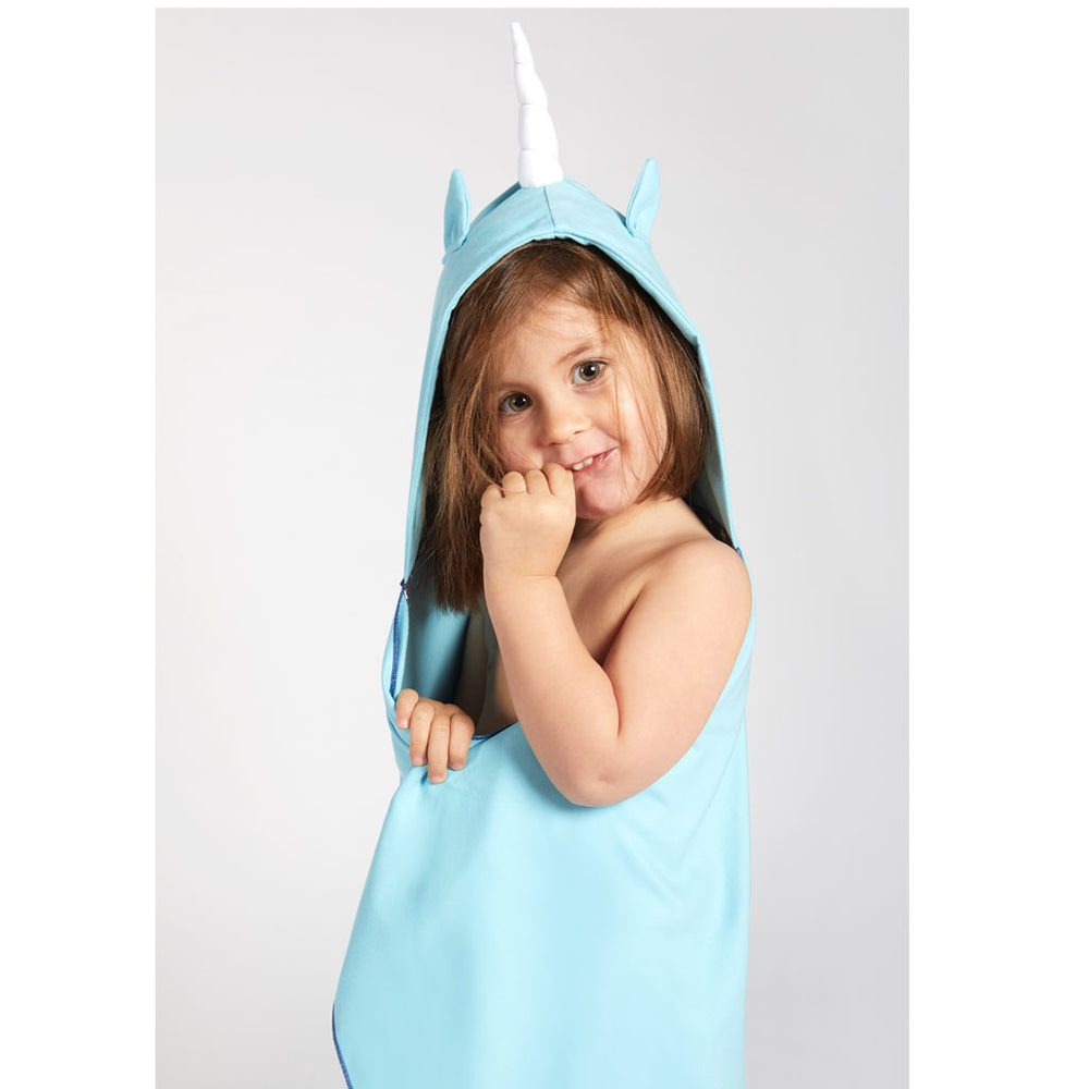 Πόντσο Πετσέτα Microfiber Light Blue Unicorn