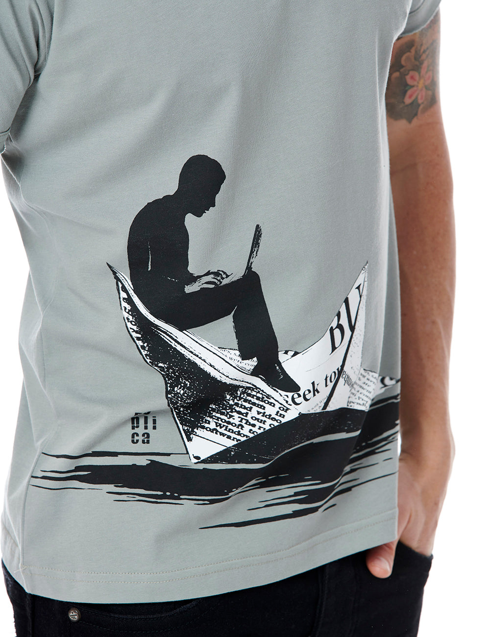 Boat tshirt Replica Greece grey