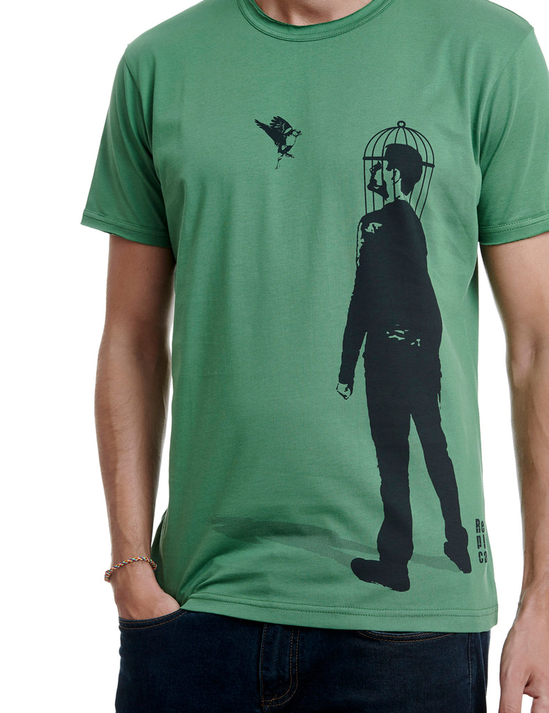 Bird replica tshirt Greece green