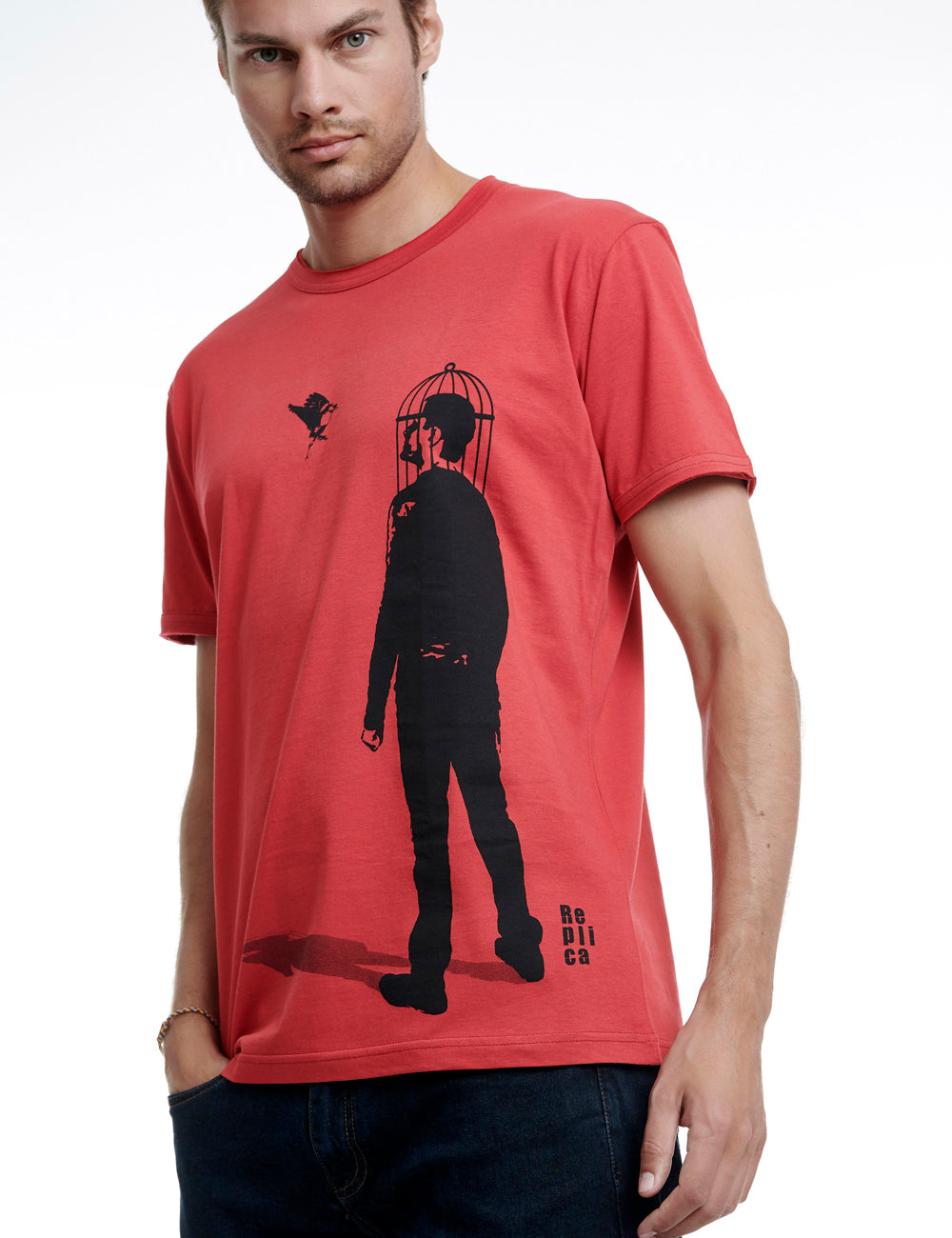 Bird replica tshirt Greece red