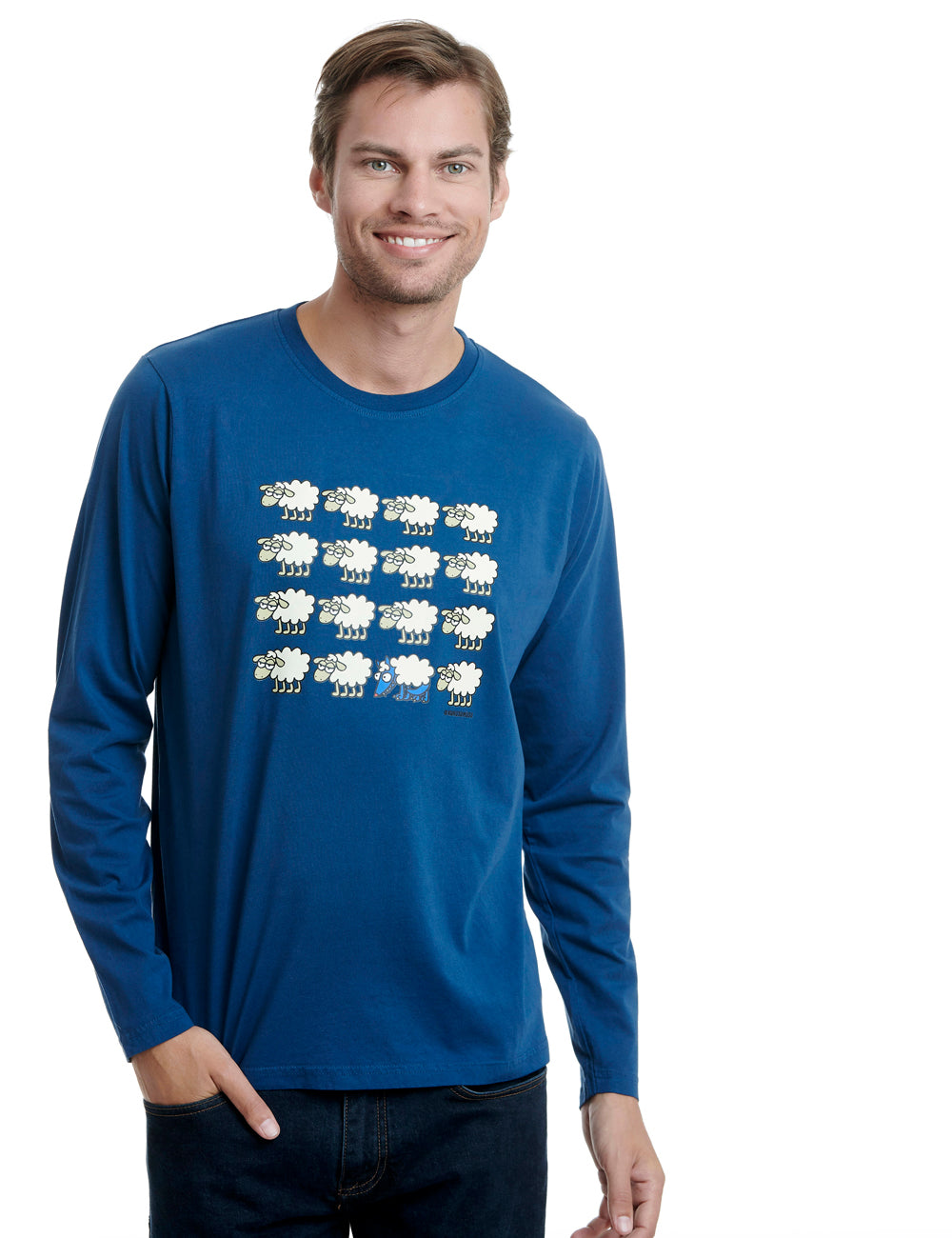 Escondido long sleeve kukuxumusu blue