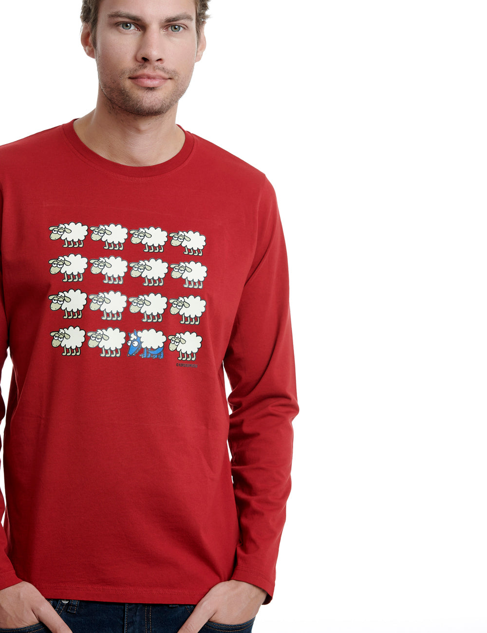Escondido long sleeve kukuxumusu red