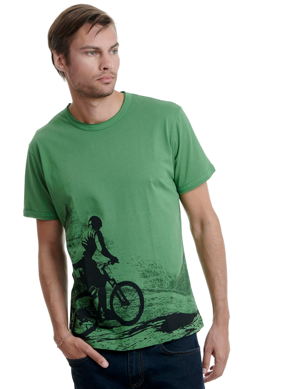 Mountain bike Replica tshirt Greece green