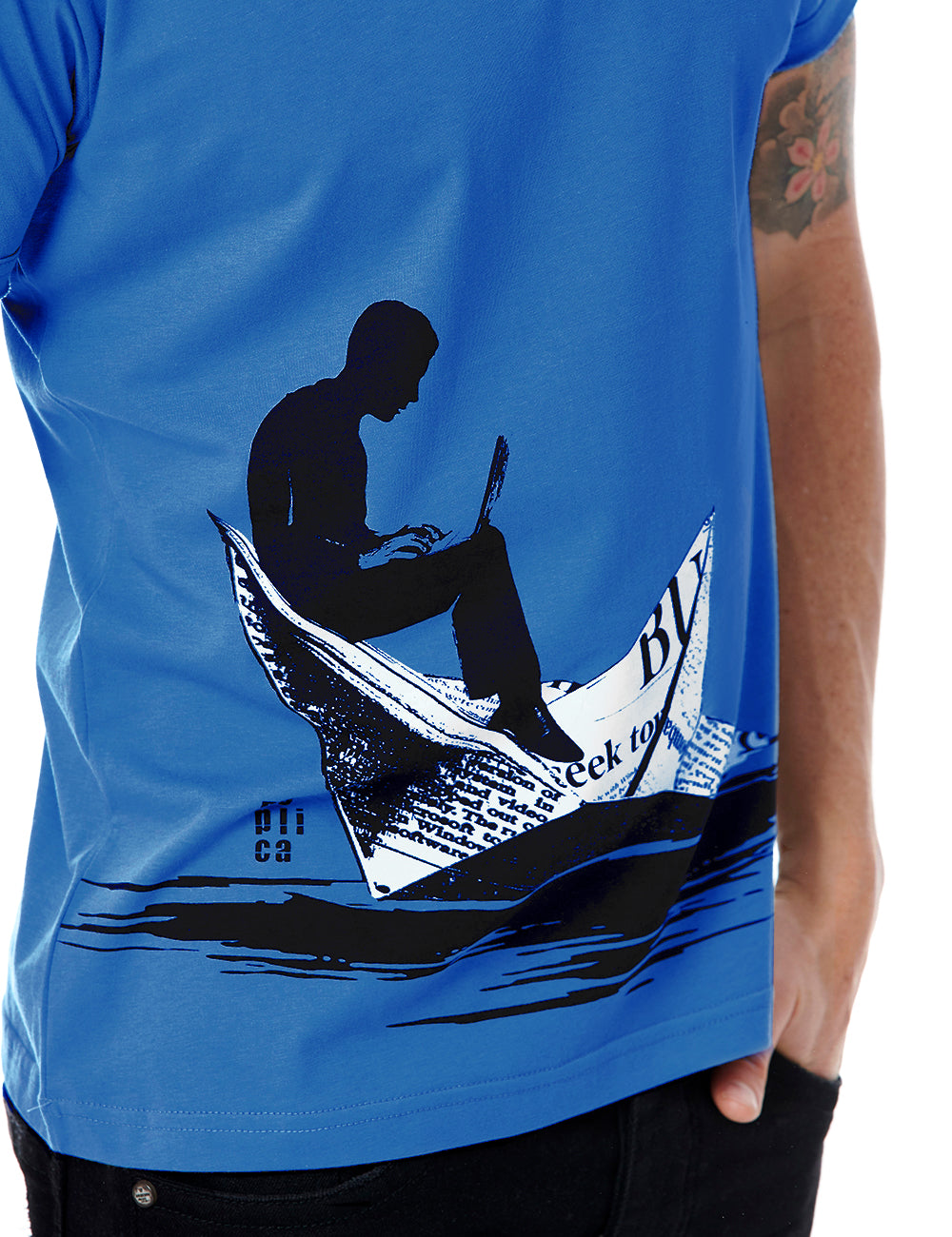 Boat tshirt Replica Greece Blue