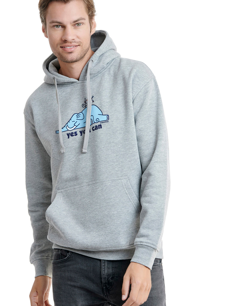 Super Mouse hoodie kukuxumusu grey cheviot