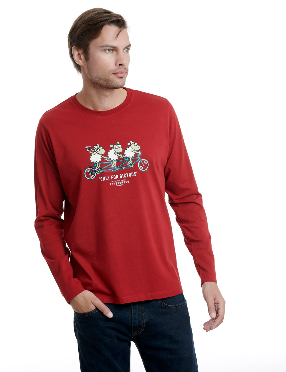 Tandem long sleeve kukuxumusu red