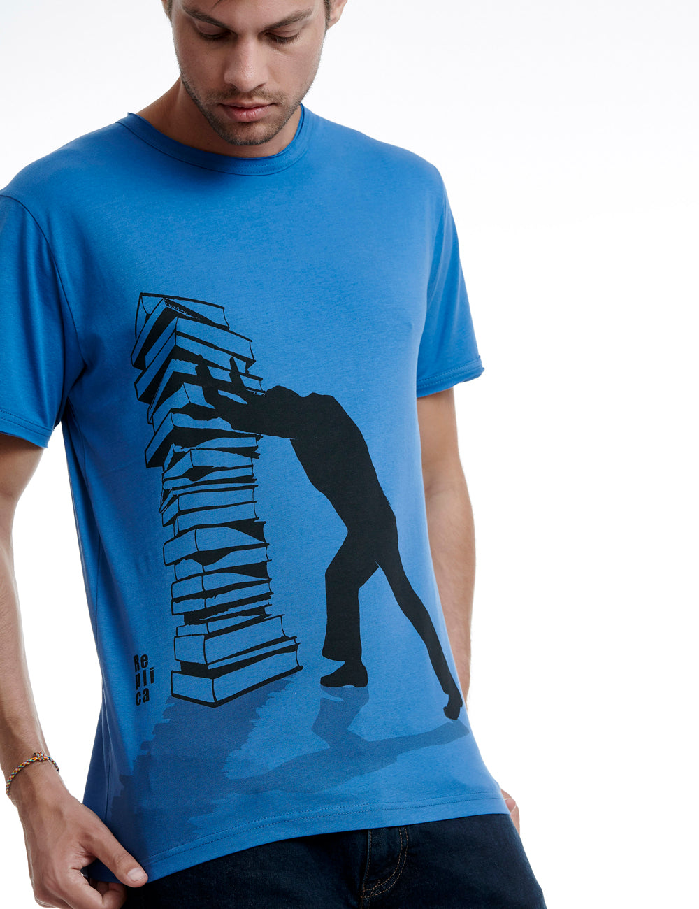 Books replica tshirt Greece blue