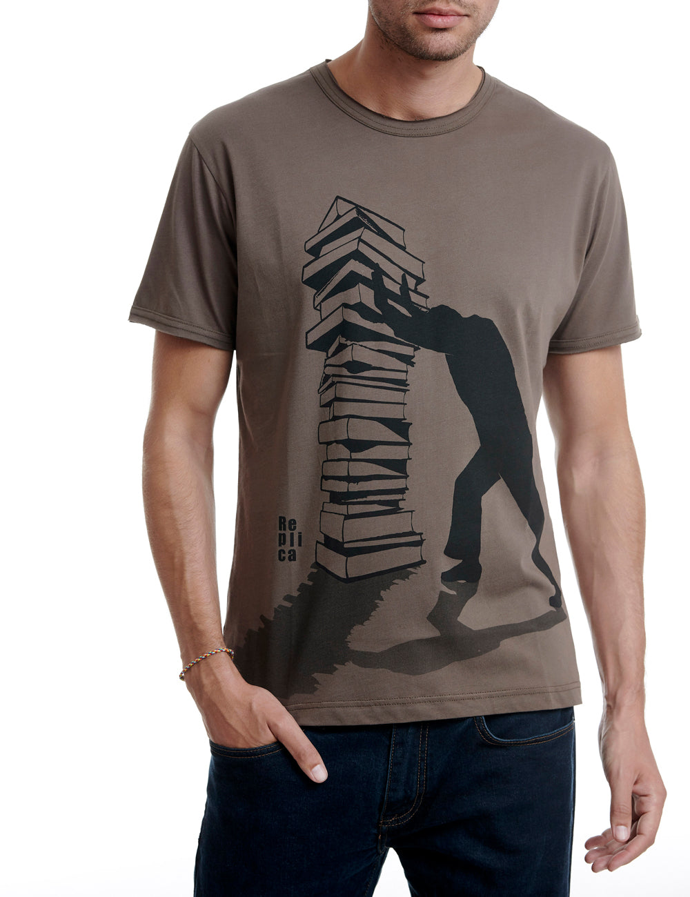 Books replica tshirt Greece brown