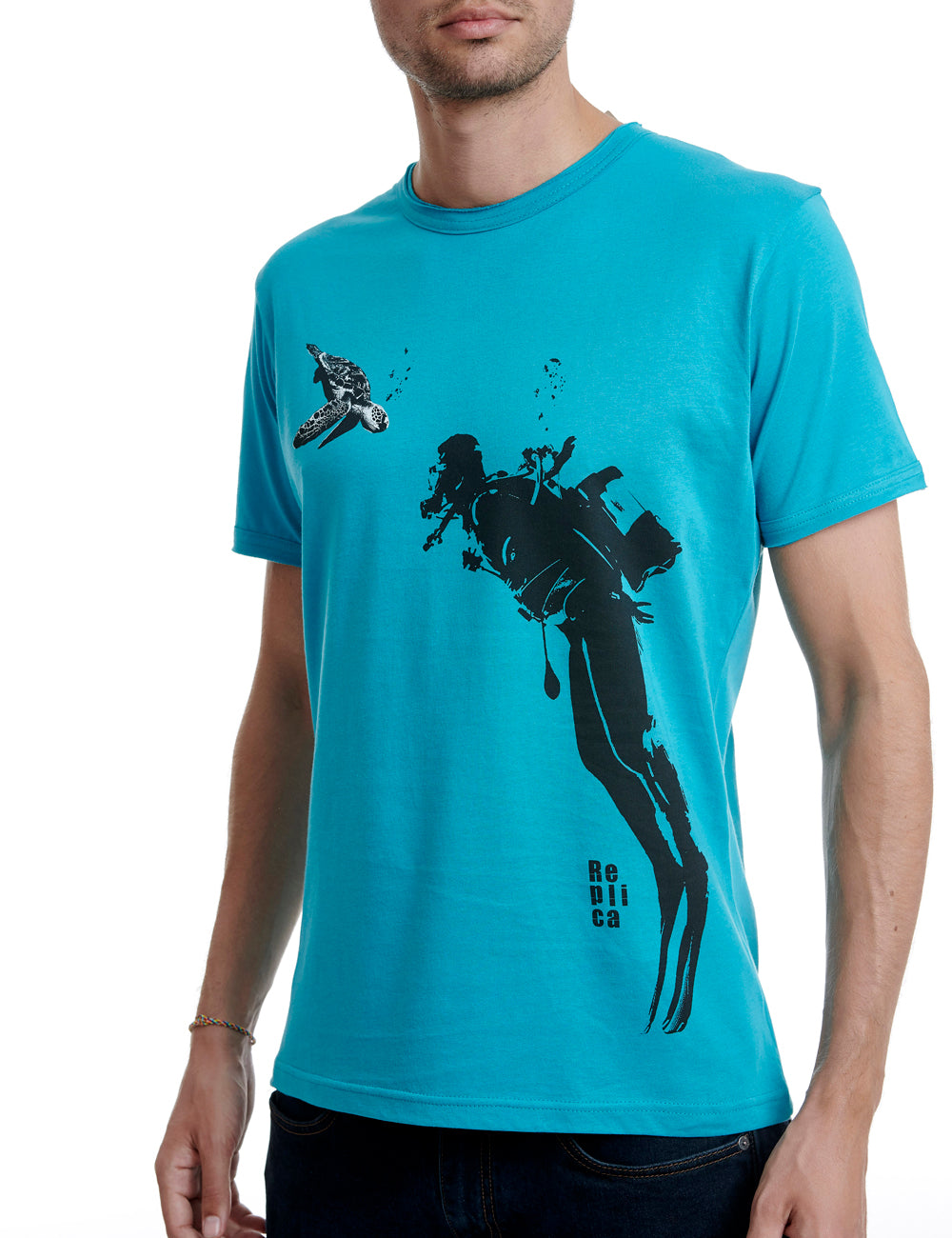 Diver Replica tshirt Greece Petrol