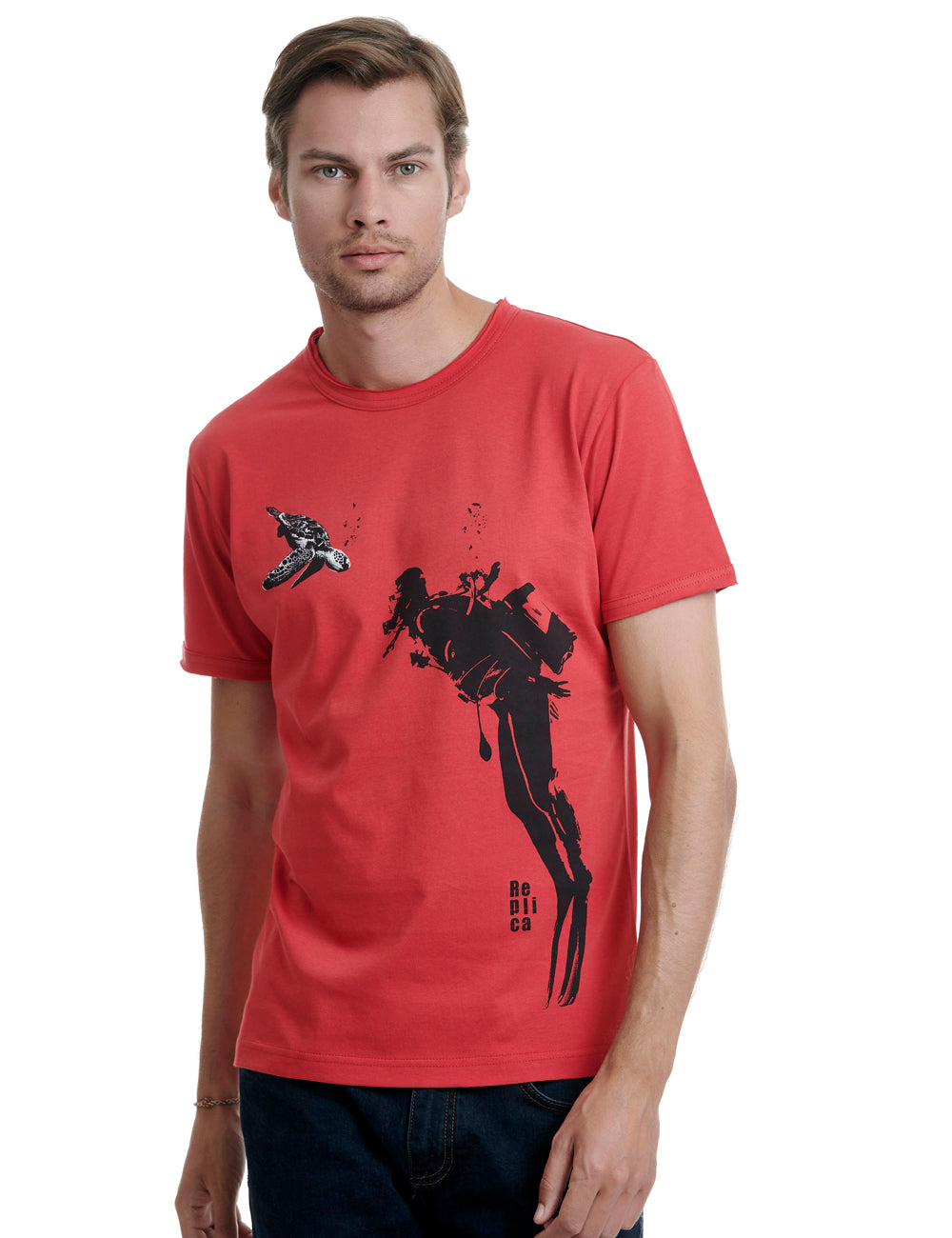 Diver Replica tshirt Greece Red