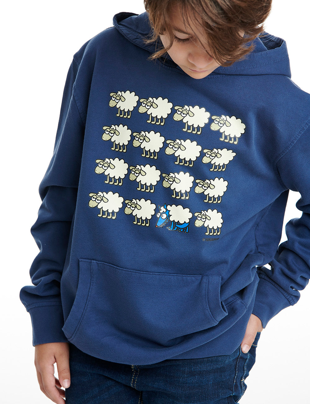 Escondido kukuxumusu hoodie boy dark blue