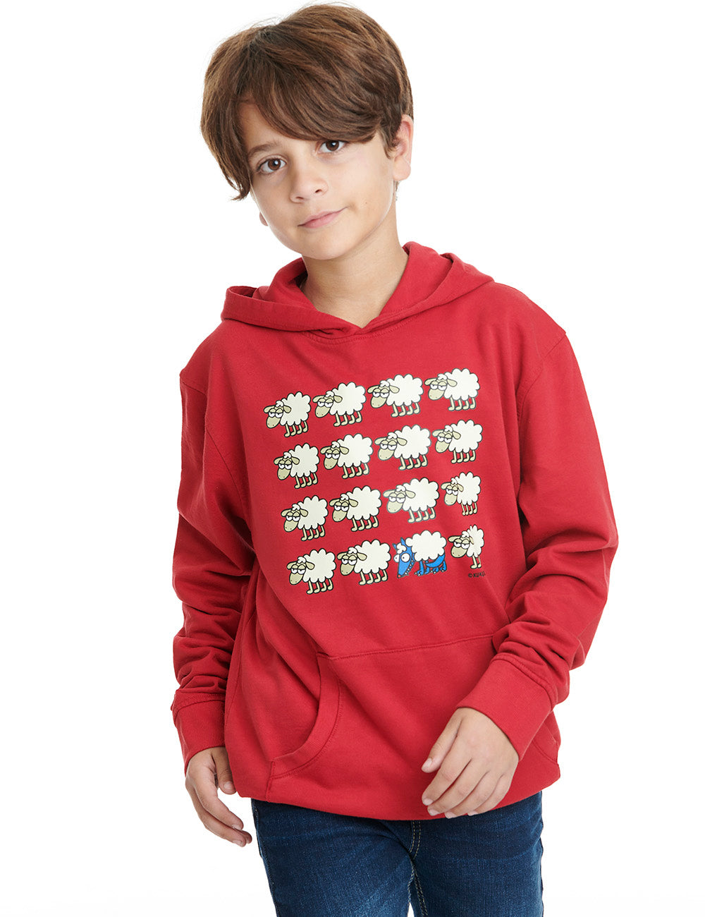 Escondido kukuxumusu hoodie boy red