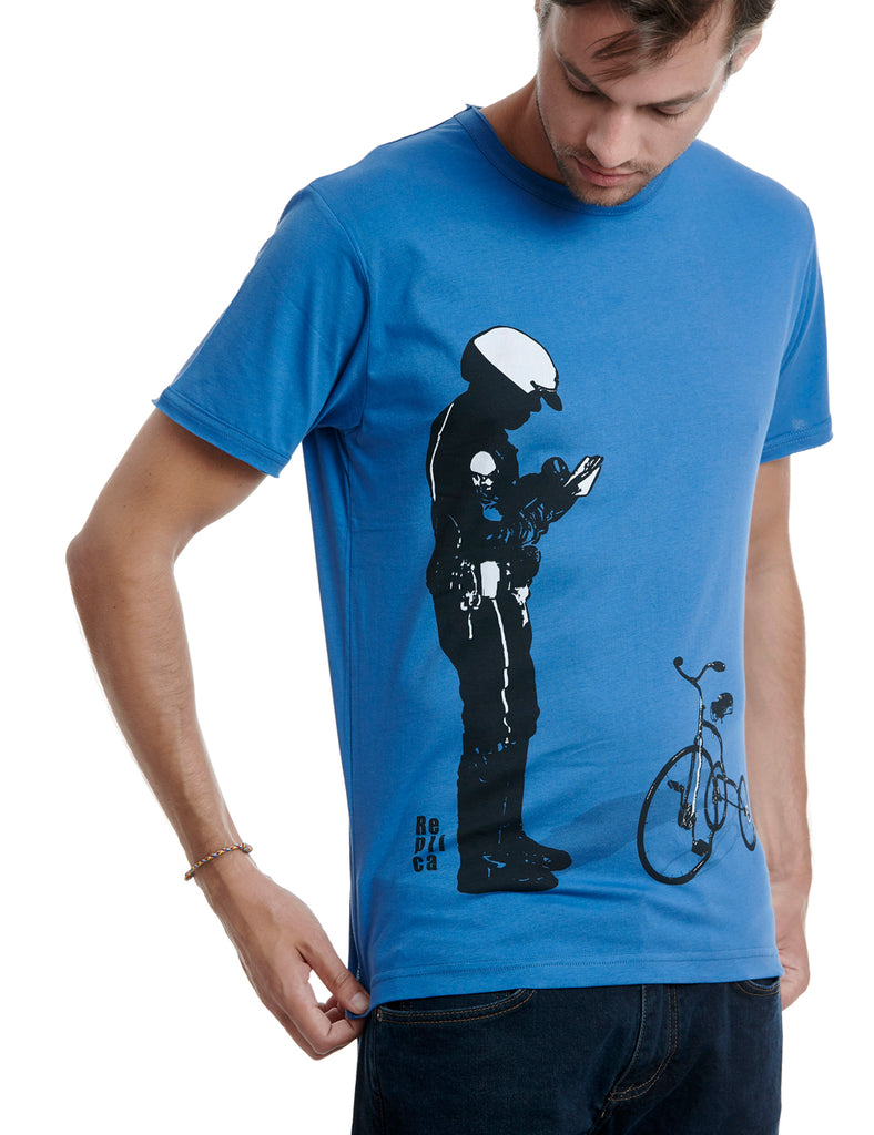 Policeman Replica tshirt Greece blue