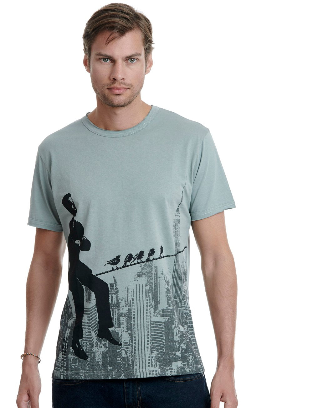 Skyline Replica tshirt Greece grey
