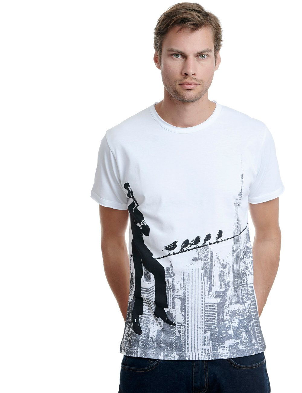 Skyline Replica tshirt Greece white