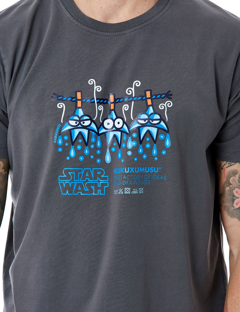 Star Wash kukuxukusu tshirt grey