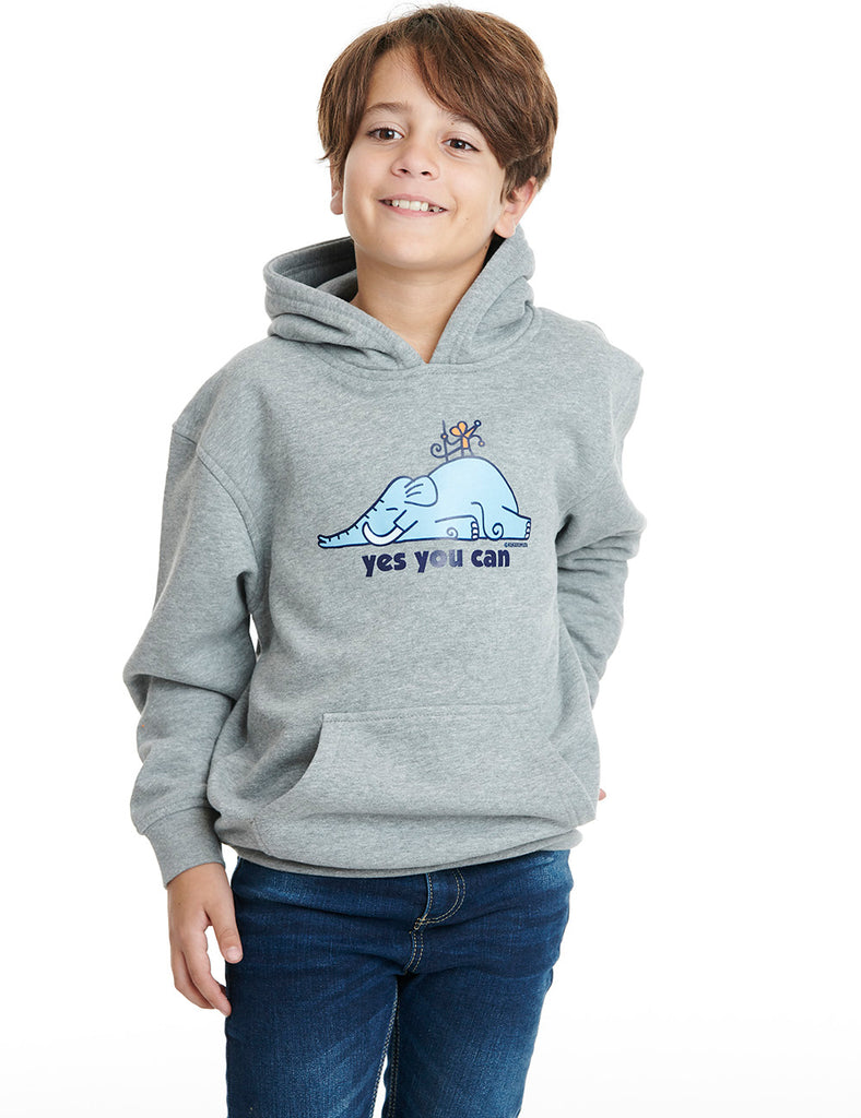 Super mouse kukuxumusu hoodie boy grey cheviot