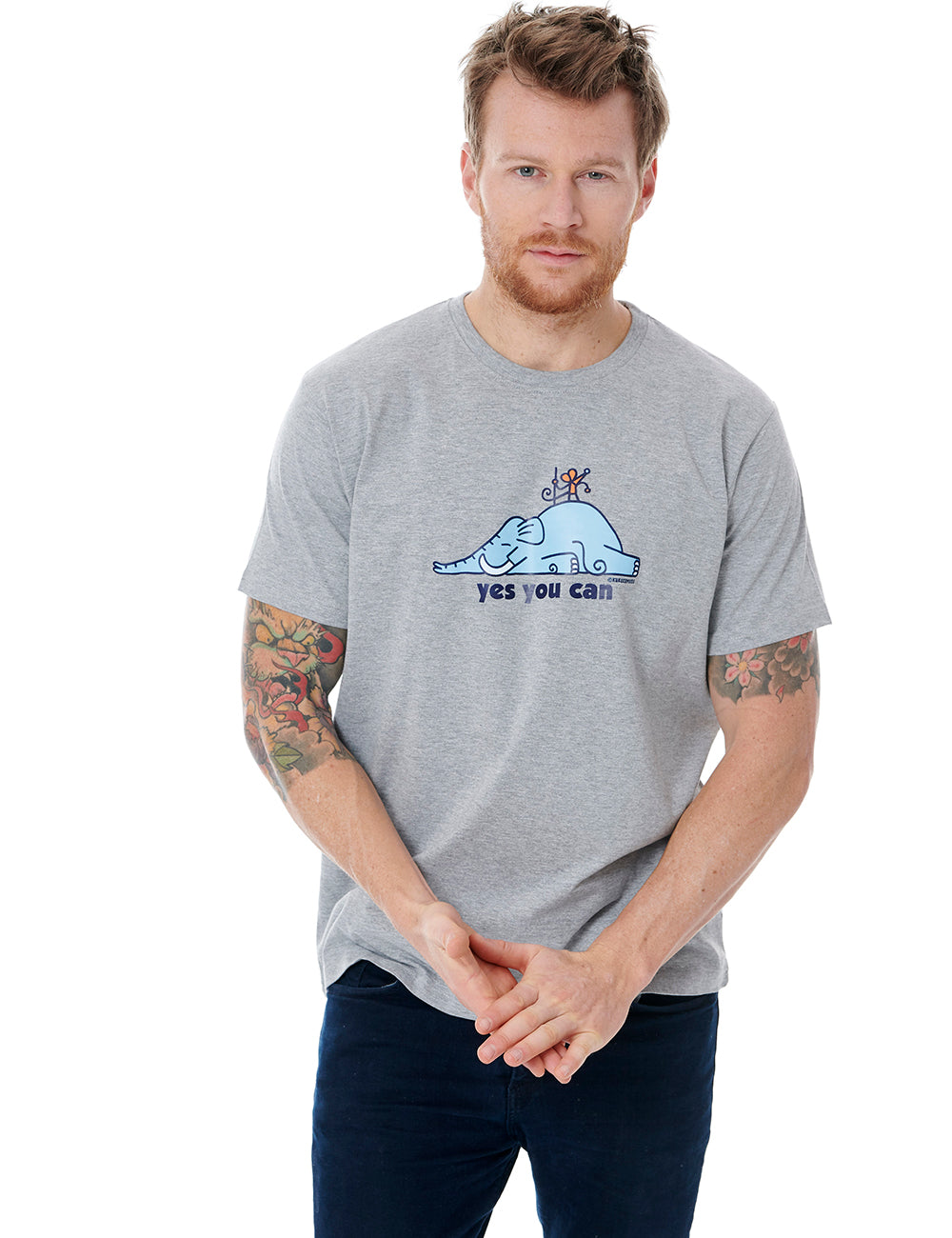 Supermouse Mens T-shirt Kukuxumusu Grey-Cheviot