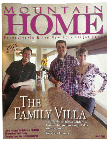 Mountain Home Magazine Cover - Villa Bellangelo, Matt, Chris and Laure
