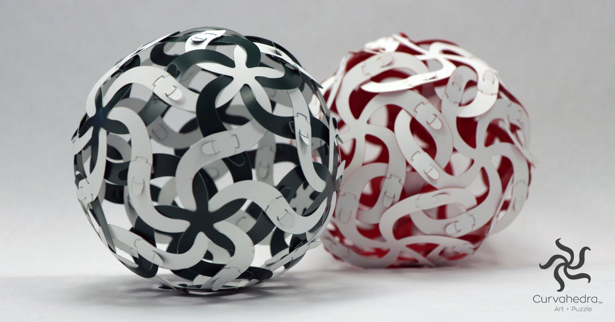 Curvahedra Woven Ball Puzzle Set - Red
