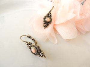 Ancient Pink Dangle Earrings