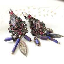 Stunning Colorful Antique Earrings