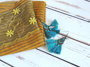 Asia Dark Yellow Headscarf