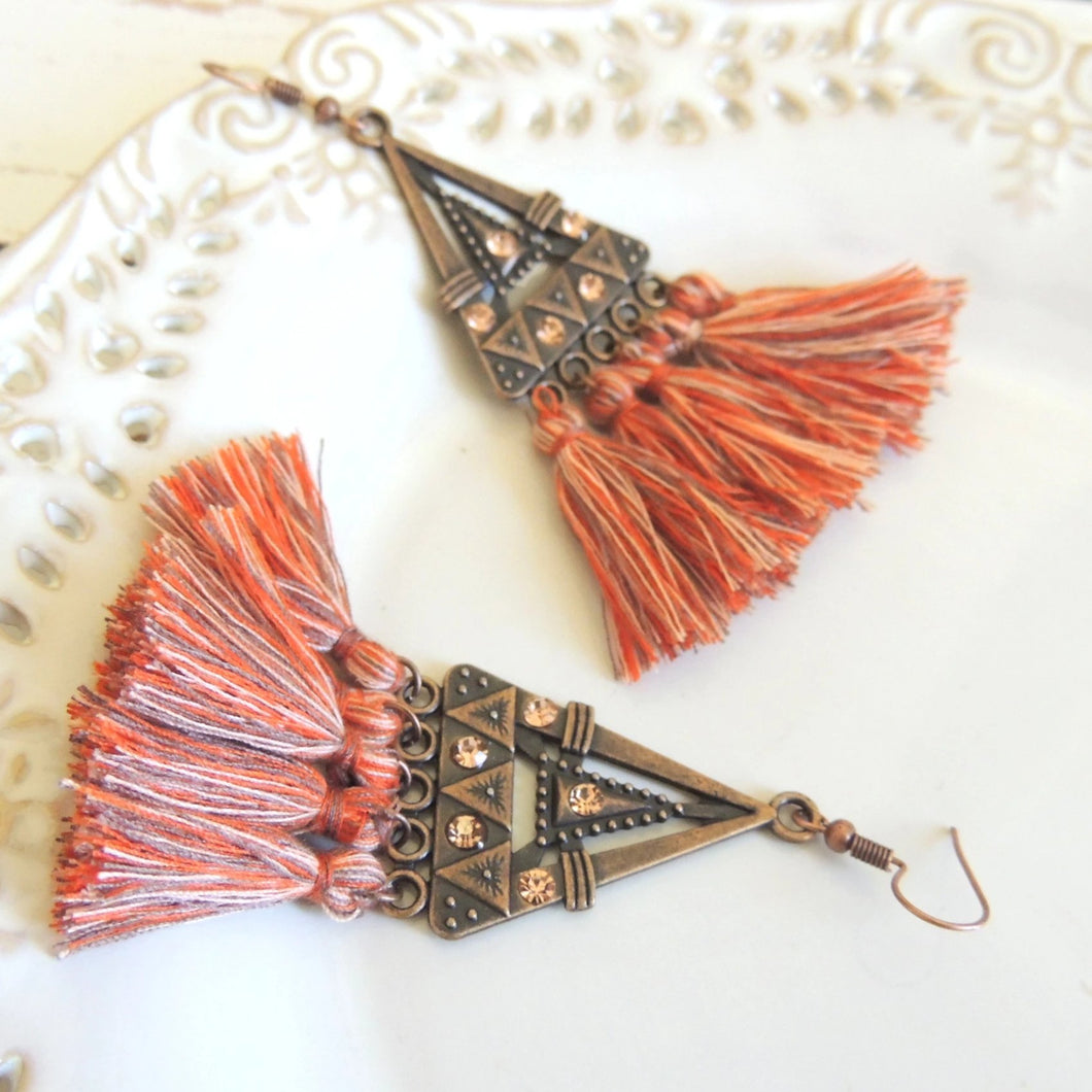 Amazing Oid Orange Ethnic Hanging