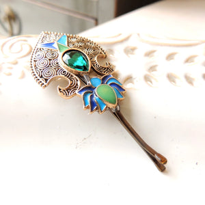 Antique Style Blue Green