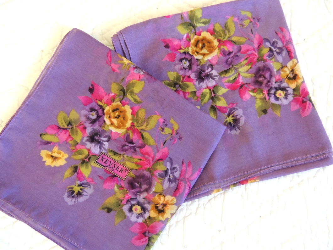 Purple Floral Headscarf