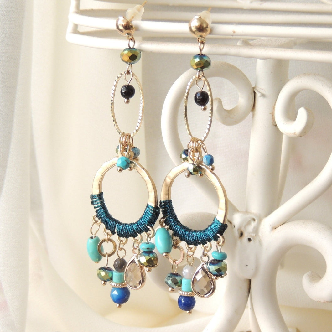 Turquoise tease Dangle Earrings