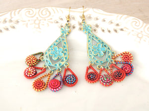 Jolly Colorful Hanging earrings