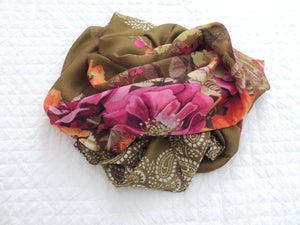 Floral Green Headscarf