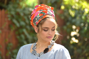Multicolored Floral Headscarf