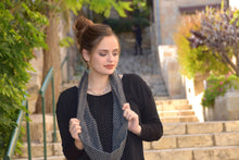 Black and White Ring Scarf