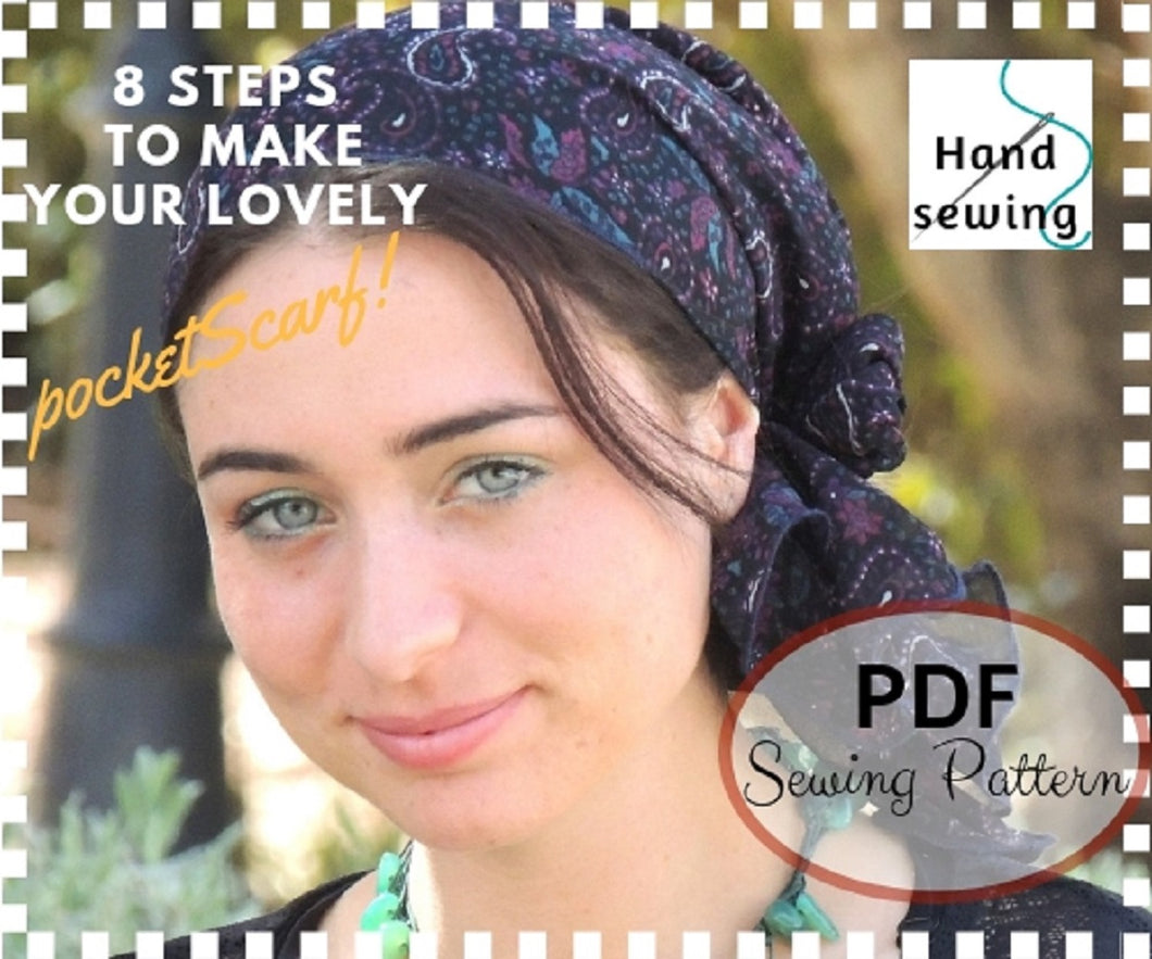 PocketScarf HAND Sewing Pattern