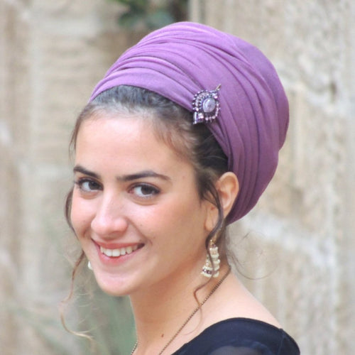Purple Headscarf Tichel