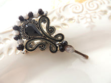 Black Bridal Hairpin