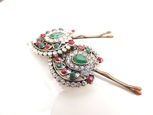 Green Red Hair Pin