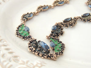 Vintage Blue Green Necklace